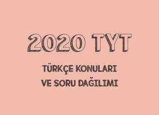 2020 TYT Türkçe Konuları