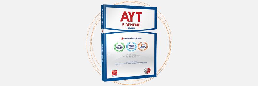 AYT Sayısal 5'li Deneme - 3D Yayınları