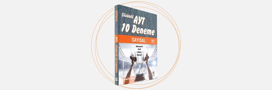AYT Sayısal Çözümlü 10 Deneme - Delta Kültür Yayınları 12