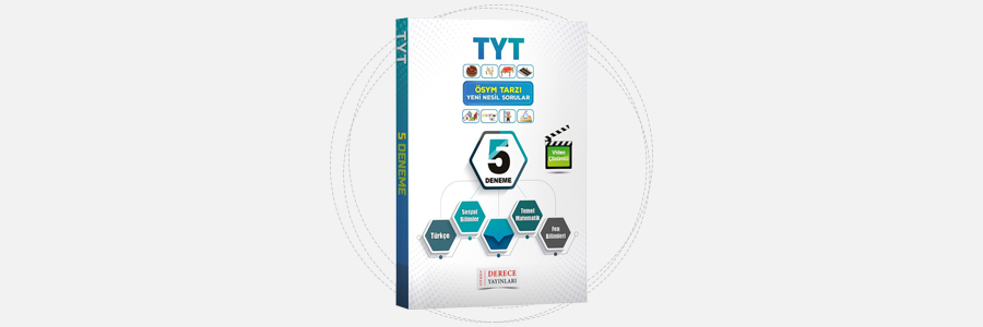 TYT Tamamı Çözümlü 5 Deneme - Sonuç Derece Yayınları 5