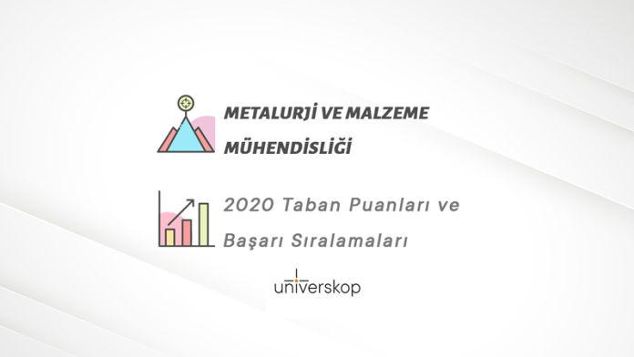 Metalurji ve Malzeme Mühendisliği Taban Puanları ve Sıralamaları 2020