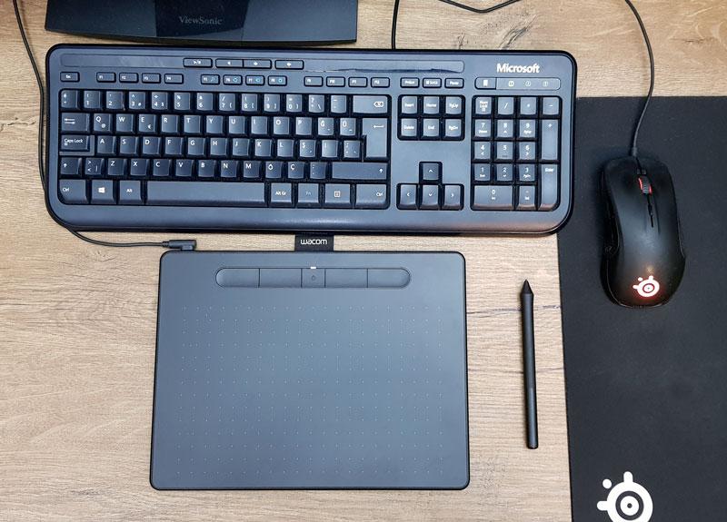 Online eğitimlerde kullandığım grafik tableti