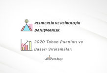 Rehberlik ve Psikolojik Danışmanlık Taban Puanları ve Sıralamaları 2020