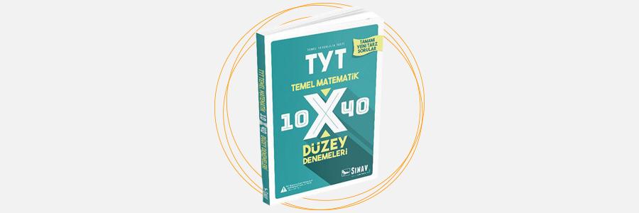 TYT Matematik 10x40 Düzey Denemeleri Sınav Dergisi Yayınları 12