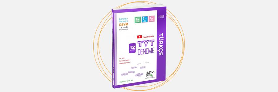 TYT Türkçe 12'li Deneme ÜçDörtBeş Yayınları 1