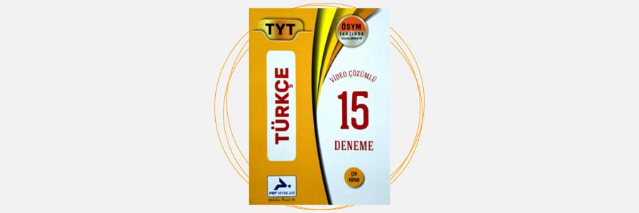 TYT Türkçe Tamamı Çözümlü 15 Denemesi Prf Paraf Yayınları 3