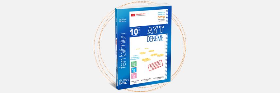 AYT 10'lu Fen Denemeleri ÜçDörtBeş Yayınları 1