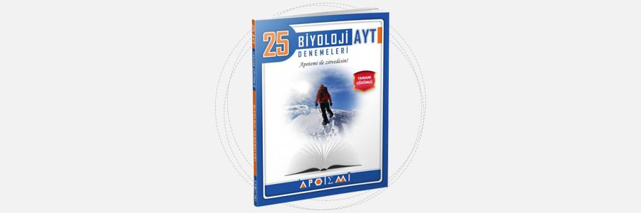 AYT Biyoloji 25'li Denemeleri Apotemi Yayınları