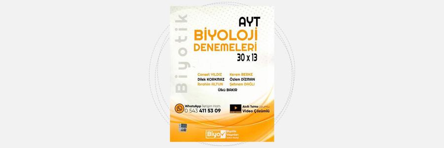 AYT Biyoloji Biyotik 30x13 Denemeleri Biyotik Yayınları