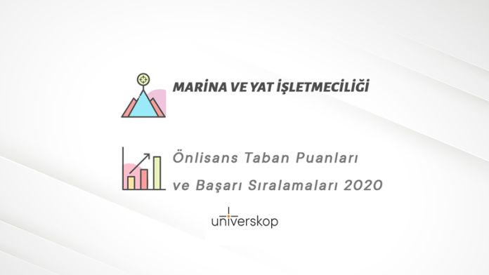 Marina ve Yat İşletmeciliği 2 Yıllık Önlisans Taban Puanları ve Sıralamaları 2020
