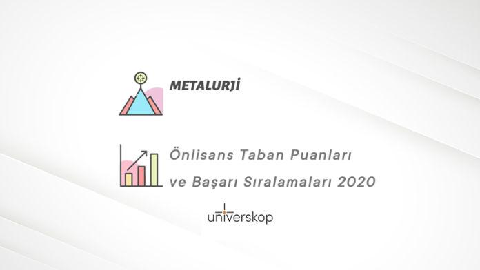 Metalurji 2 Yıllık Önlisans Taban Puanları ve Sıralamaları 2020