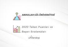 Abdullah Gül Üniversitesi Taban Puanları ve Sıralamaları 2020