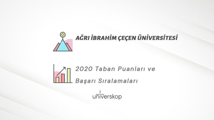 Ağrı İbrahim Çeçen Üniversitesi Taban Puanları ve Sıralamaları 2020