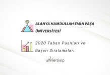 Alanya Hamdullah Emin Paşa Üniversitesi Taban Puanları ve Sıralamaları 2020