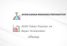 Aydın Adnan Menderes Üniversitesi Taban Puanları ve Sıralamaları 2020