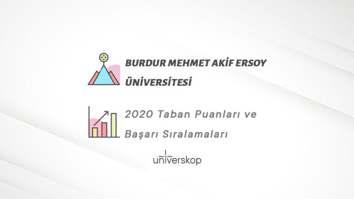 Burdur Mehmet Akif Ersoy Üniversitesi Taban Puanları ve Sıralamaları 2020