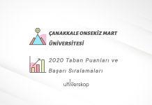 Çanakkale Onsekiz Mart Üniversitesi Taban Puanları ve Sıralamaları 2020