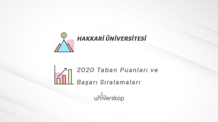 Hakkari Üniversitesi Taban Puanları ve Sıralamaları 2020
