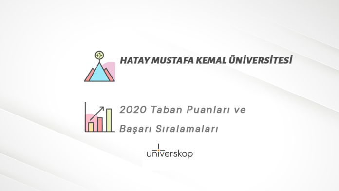 Hatay Mustafa Kemal Üniversitesi Taban Puanları ve Sıralamaları 2020