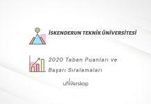 İskenderun Teknik Üniversitesi Taban Puanları ve Sıralamaları 2020