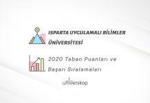 Isparta Uygulamalı Bilimler Üniversitesi Taban Puanları ve Sıralamaları 2020