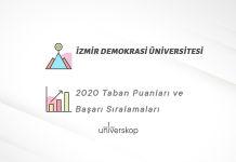 İzmir Demokrasi Üniversitesi Taban Puanları ve Sıralamaları 2020
