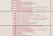 İsimleri değiştirilen bölümler