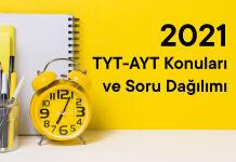TYT-AYT Konuları ve Soru Dağılımı 2021