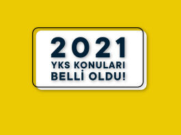 2021 YKS Konuları Belli Oldu