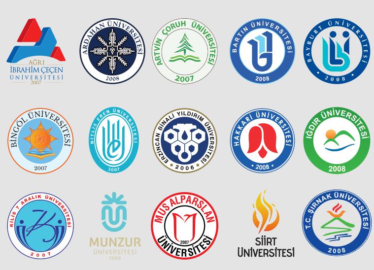 YÖK Anadolu Projesi Genç Üniversite Logoları