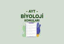 AYT Biyoloji Konuları