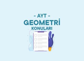 AYT Geometri Konuları